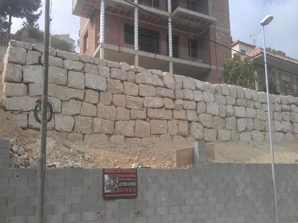 Muros de rocalla rocallas y excavaciones catalunya s l - Muros de rocalla ...